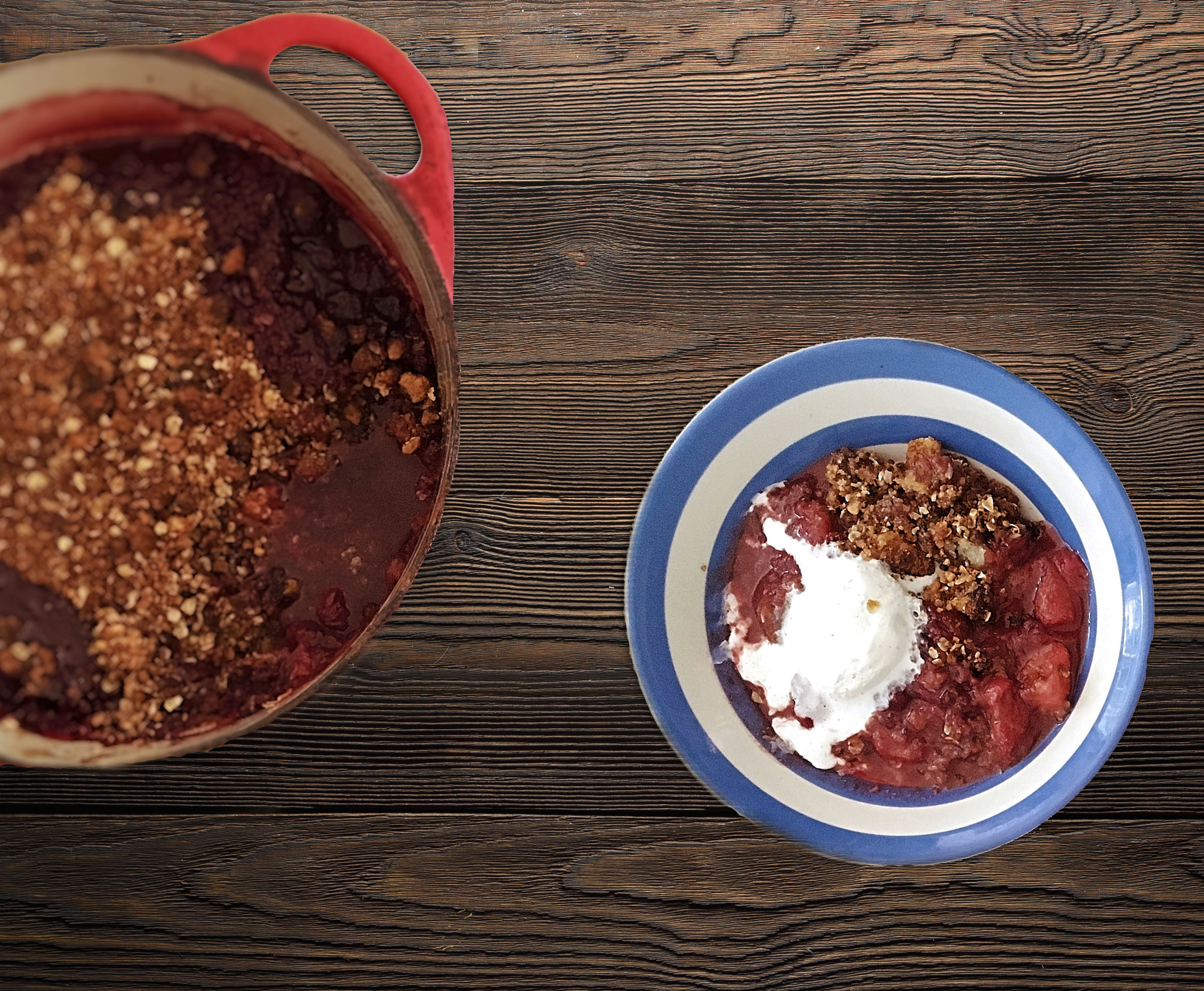 spiced summer crumble